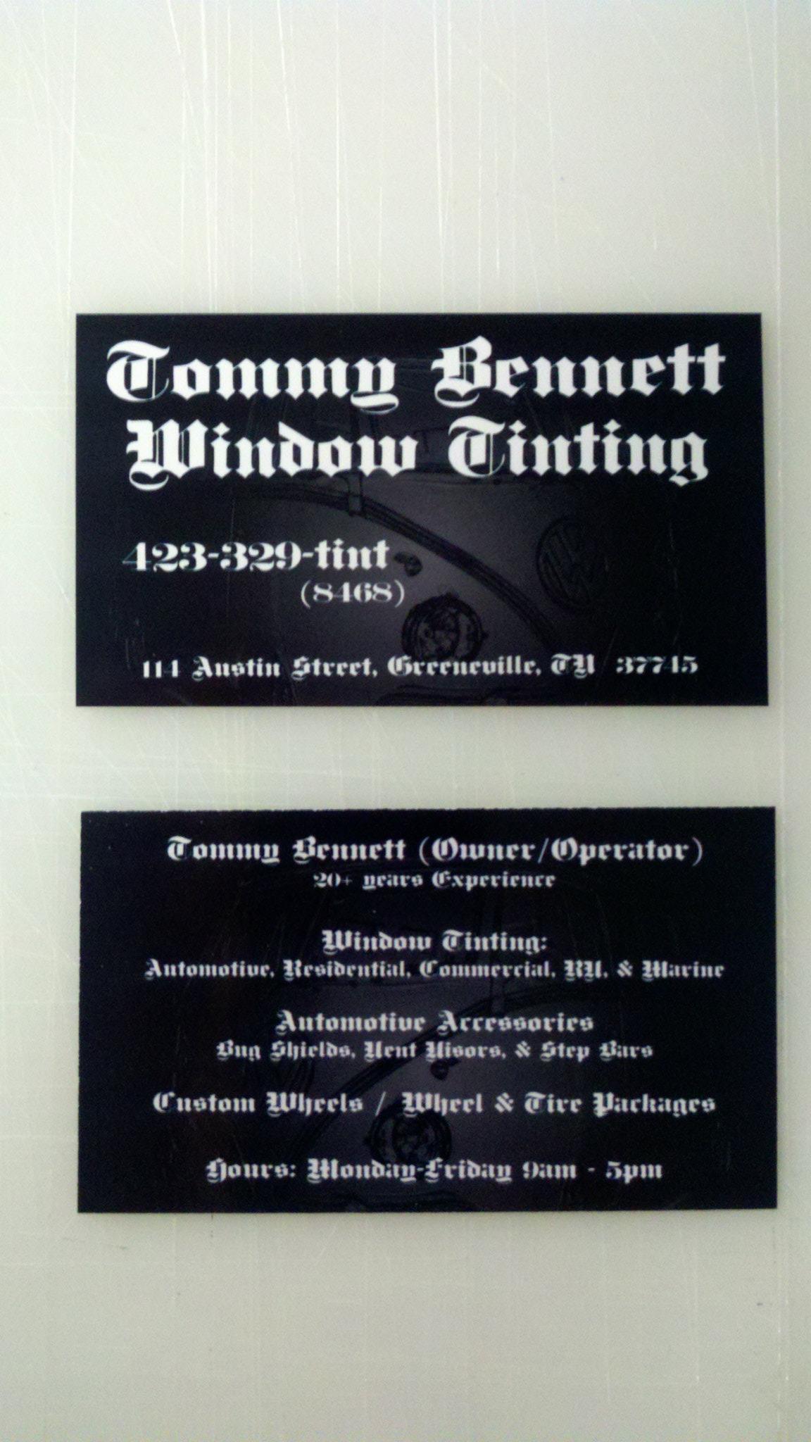 Tommy Bennett Window Tinting