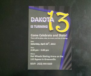 Custom designed 4″x 6″ birthday cards